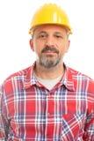 Portrait du constructeur masculin images libres de droits