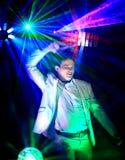 Portrait du DJ de partie Photographie stock libre de droits