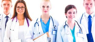 Portrait du groupe de collègues de sourire d'hôpital se tenant ensemble photos stock