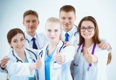Portrait du groupe de collègues de sourire d'hôpital se tenant ensemble médecins Image libre de droits