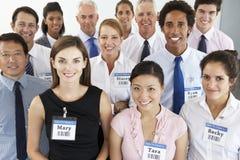 Portrait du groupe de gens d'affaires heureux et positifs Image libre de droits