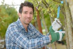 Portrait du jardinier masculin photo stock