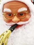 Portrait du père noël pour la décoration de Noël dans la rue Images stock