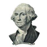 Portrait du Président Washington George (chemin de coupure) image stock