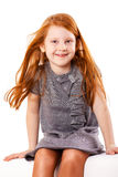Petite fille espiègle mignonne Images libres de droits