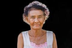 Portrait du sourire heureux de femme agée Photos libres de droits