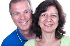 Portrait du sourire supérieur heureux de couples Image stock