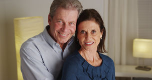 Portrait du sourire supérieur heureux de couples Photo stock