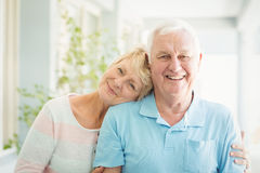 Portrait du sourire supérieur heureux de couples Photographie stock