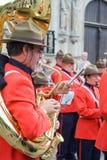 Portrait du trompettiste à Bruges Images stock