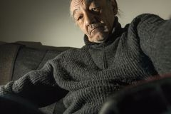 Portrait du vieux parrain Photos stock