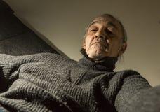 Portrait du vieux parrain Photo stock