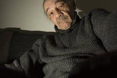 Portrait du vieux parrain Photographie stock libre de droits