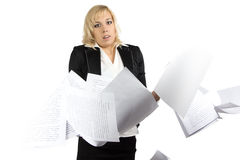 Portrait of dumbfounded businesswoman Stock Images