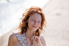 Portrait in dune Royalty Free Stock Photography