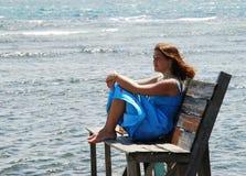Portrait durch das Meer stockbilder