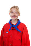 Portrait of  Dutch scout girl Stock Images
