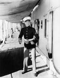 Portrait of eager sailor Stock Images