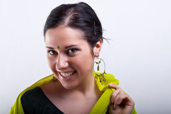 Portrait with earrings Royalty Free Stock Images