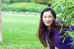 Portrait of the east asian woman Royalty Free Stock Photos