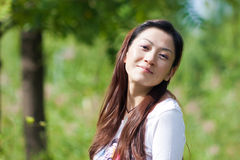 Portrait of the east asian woman Stock Photo