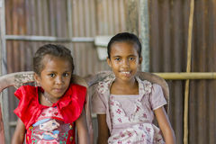 Portrait of East Timorese sisters Royalty Free Stock Photo