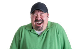 Portrait of Ecstatic Man Wearing Green Shirt Stock Photo