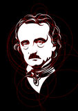 Portrait of Edgar Allan Poe Royalty Free Stock Photo