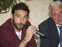 Portrait edoardo leo and fulvio lucisano Stock Photo