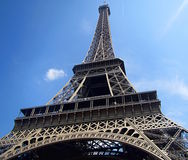 Portrait of The Eiffel Tower Royalty Free Stock Photography