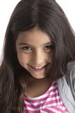 Portrait of an eight year old girl royalty free stock photo