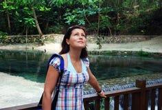 Portrait in einem Dschungel Lizenzfreies Stockfoto