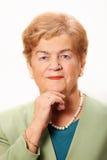 Portrait einer älteren Dame Lizenzfreie Stockbilder