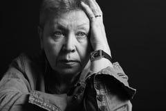 Portrait einer älteren Dame Stockbild