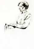 Portrait einer älteren Frau lizenzfreie abbildung