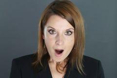 Portrait einer überraschten Frau Lizenzfreies Stockbild