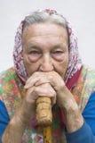 Portrait einer alten Frau Stockfotografie