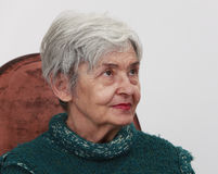 Portrait einer alten Frau Lizenzfreies Stockfoto