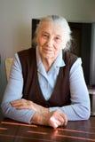 Portrait einer alten Frau Stockbild