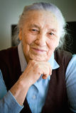 Portrait einer alten Frau Stockbilder