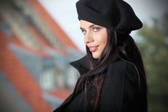 Portrait einer Art und Weisefrau, Stockfotos