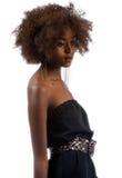 Portrait einer balck Frau im Schwarzen Stockbild