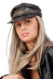 Portrait einer blonden Frau stockbild
