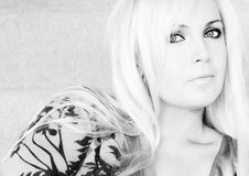 Portrait einer Blondine. Lizenzfreie Stockfotografie