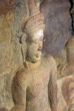 Portrait einer Buddha-Statue stockfoto