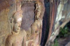 Portrait einer Buddha-Statue lizenzfreies stockfoto