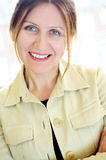 Portrait einer fälligen Frau Lizenzfreies Stockfoto