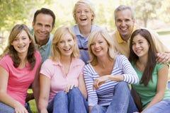 Portrait einer Familie Stockbild