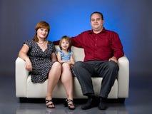 Portrait einer Familie von drei Lizenzfreie Stockfotos