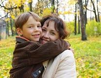 Portrait einer Frau mit einem Kind Lizenzfreies Stockbild